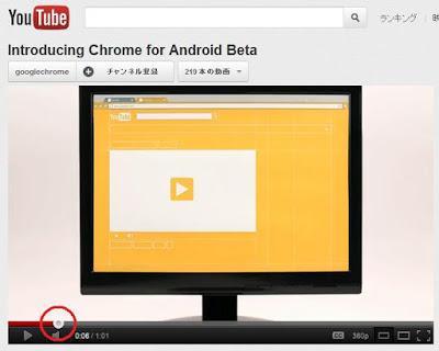 YouTubeの小技 数字キーで映像をスキップする