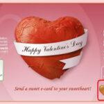 バレンタインデーにケーキに描いたメッセージカードを送れるサイト